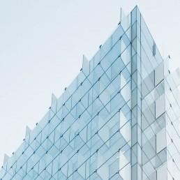 Glassy facade