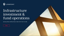 infrastructure investment and fund operations